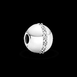 Clip plata bola tira circonitas en centro Pandora 799403C01