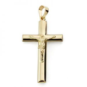 Cruz con cristo de 9 kilates 29x17mm 9K-050859