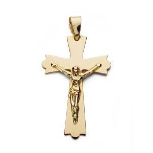 Cruz con cristo de 9 kilates 29x18mm 9k-22046