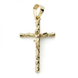 Cruz oro con CRISTO 1,5x21mm 12758