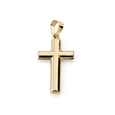 Cruz oro lisa SIN CRISTO 24x12mm 4871