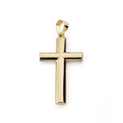 Cruz oro lisa SIN CRISTO 24x15mm 4872