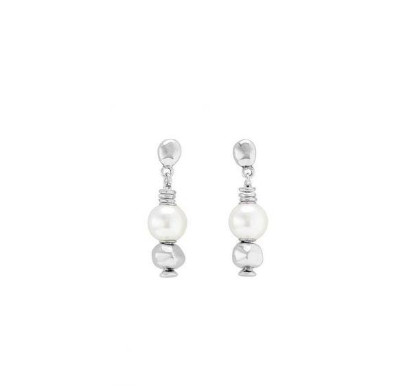 ENDIENTES UNO DE 50 largos con perlas y anillas Moody PEN0718BPLMTL0U