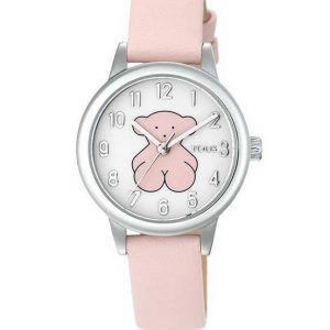 Reloj Tous Muffin para niña comunión esfera osito rosa y correa rosa 000351435