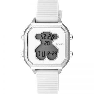 Reloj Tous digital mujer D-Bear Teen blanco y plateado 100350380