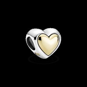 Charm cupula corazon en oro de 14 kilates 799415c00