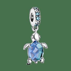 Charm Pandora colgante Cristal de Murano Tortuga Marina 798939C01