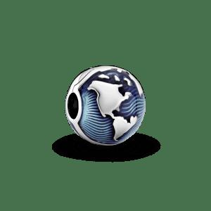 Clip Pandora mundo esmalte Globo terraqueo Azul 799429C01