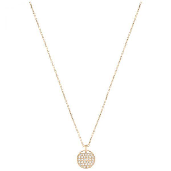 Collar GINGER Swarovski circulo baño oro rosa cristales blancos 5265913