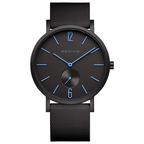 Reloj Bering true aurora caballero 40mm negro mate indices azules 16940-499