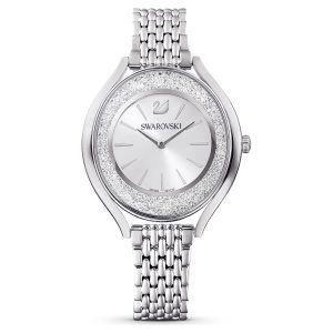 Reloj Swarovski Crystalline Aura plateado con cristales blancos 5519462