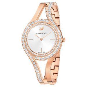 Reloj Swarovski brazalete eternal rosado con cristales blancos 5377576