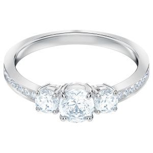 anillo-attract-trilogy-round--blanco--baño-de-rodio-swarovski-5448897