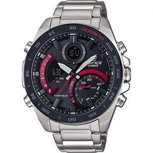 Reloj Casio Edifice armys esfera negra y roja ECB-900DB-1AER