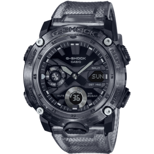 Reloj Casio G-Shock Skeleton gris oscuro transparente correa GA-2000SKE-8AER