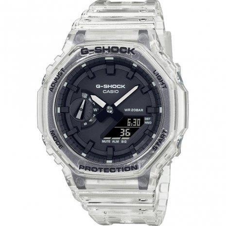 Reloj Casio G-Shock Skeleton transparente octogonal GA-2100SKE-7AER