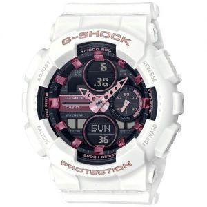 Reloj Casio G-Shock Women blanco indices rosas GMA-S140M-7AER