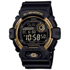 Reloj Casio G-Shock negro con bisel dorado G-8900GB-1ER