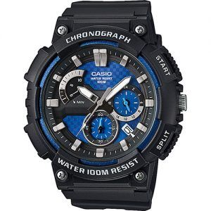 Reloj Casio collection analogico negro y azulón MCW-200H-2AVEF