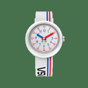 Reloj Flik Flak Nasa blanco FPNP094