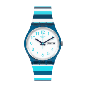 Reloj Swatch rayas striped waves GN728