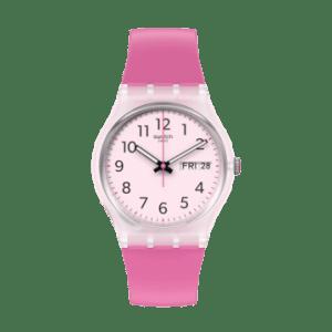 Reloj Swatch rosa repeat pink GE724
